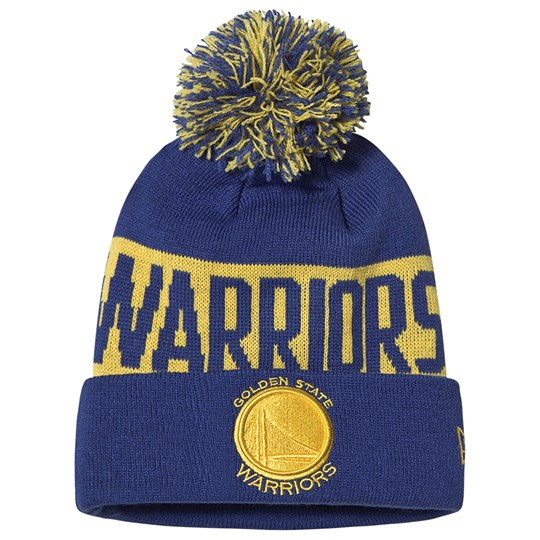 New Era Golden State Warriors Pom-Pom Beanie Blue and Yellow OTC