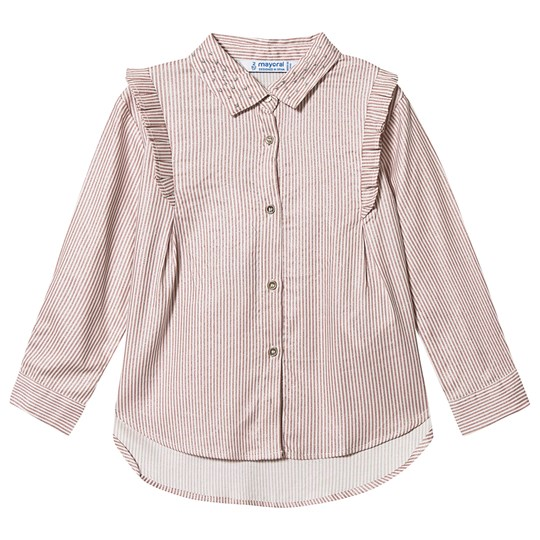 Mayoral Stripe Shirt Pink/White 20