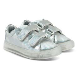 Pop Shoes St Laurent EZ Sneakers Safety Silver