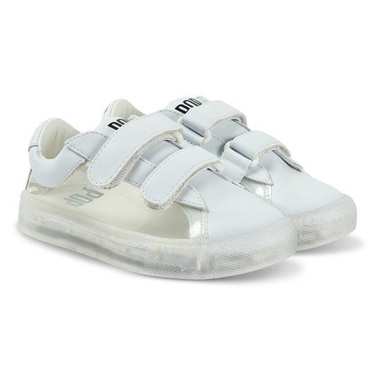 Pop Shoes St Laurent EZ Sneakers Clear White Clear White