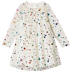 Stella McCartney Kids Sequin and Tulle Party Dress Cream
