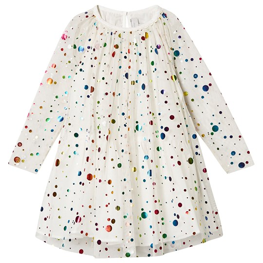 Stella McCartney Kids Sequin and Tulle Party Dress Cream 8490