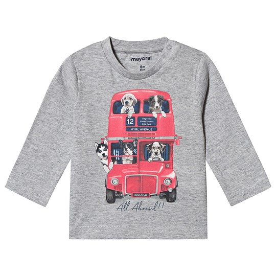 Mayoral Red Bus Puppy Long Sleeve Tee Grey 59