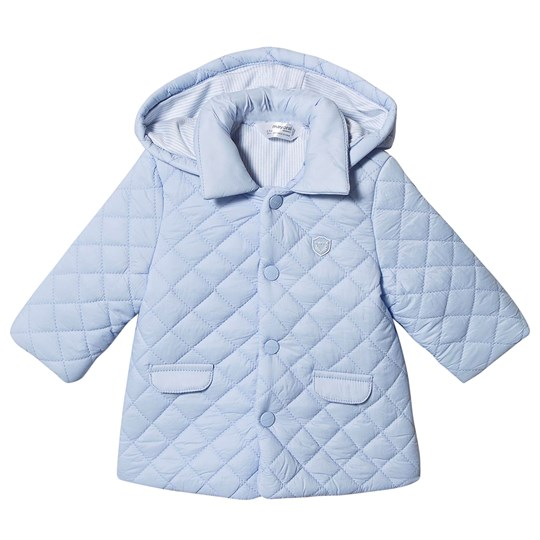 Mayoral Hooded Quilted Jacket Pale Blue 21