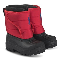 Ralph Lauren Hamilton Snow Boots Red and Royal Blue
