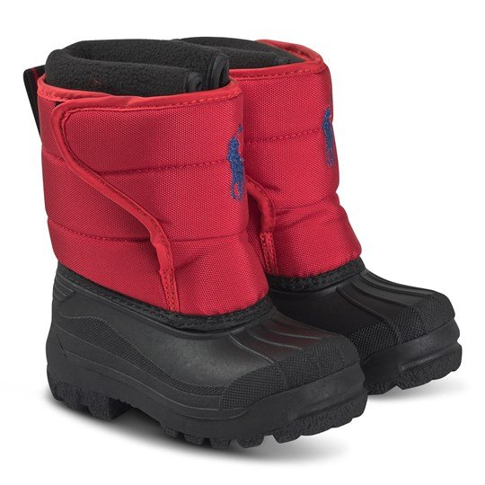 Ralph Lauren Hamilton Snow Boots Red and Royal Blue Red