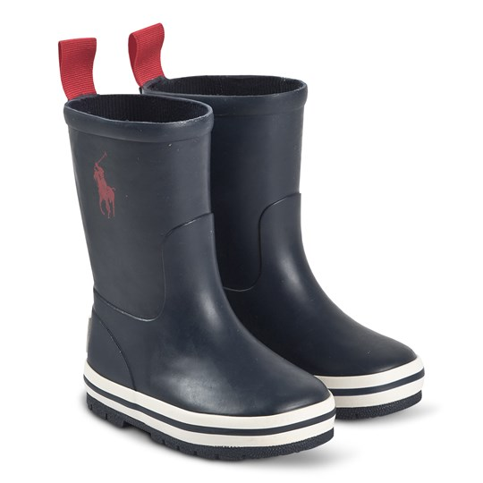 Ralph Lauren Kelso Rain Boots Navy and Red Navy