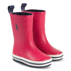 Ralph Lauren Kelso Rain Boots Sports Pink and Navy