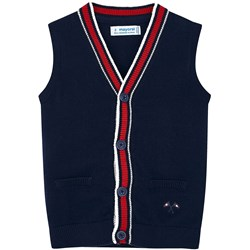 Mayoral Varsity Knit Vest Navy
