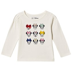 GAP Minnie Mouse™ Long Sleeve Tee Ivory Frost