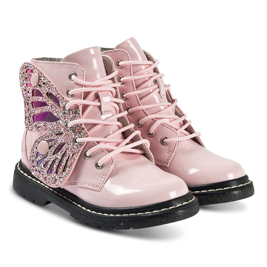 Lelli Kelly Fairy Wings Boots Pink Pink Patent