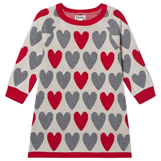 Hatley Festive Hearts Sweater Kjole Off White Natural