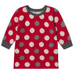 Hatley Holiday Dots Sweater Dress Red