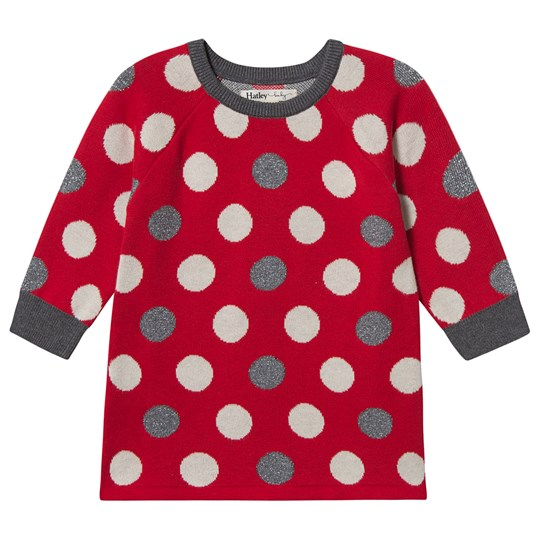 Hatley Holiday Dots Sweater Dress Red Red