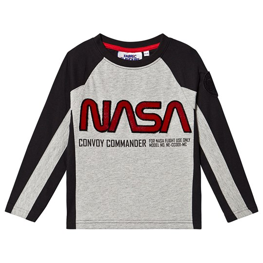 Fabric Flavours NASA Convoy Commander Long Sleeve T-Shirt Grey Black