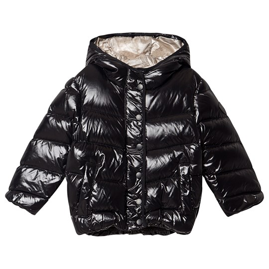 Bonpoint Hooded Down Puffer Jacket Black 099