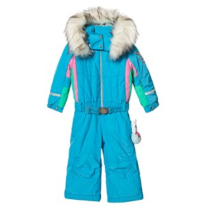 Image of Poivre Blanc Aqua Blue Farveblokdesign Ski Dragt 2 years (1487149)