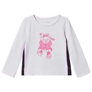 Image of Poivre Blanc Bjørne Baselayer Top Hvid/Pink 4 years (1487204)