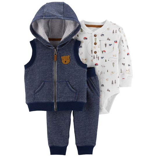 Carter's 3-Delar Bear Little Väst Set Blå BLUE (420)