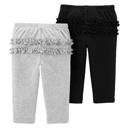 Carter's 2-Pack Pull-On Pants Black/Grey