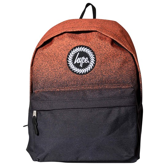 Hype Speckle Fade Backpack Black and Orange Orange/Black