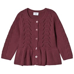 Hust&Claire Carna Knitted Cardigan Aubergine