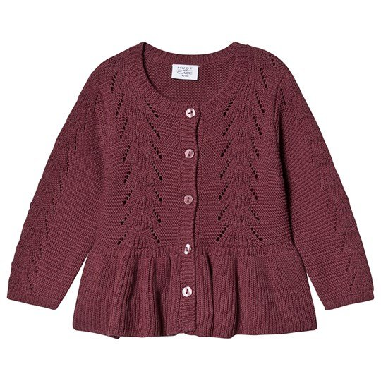 Hust&Claire Carna Knitted Cardigan Aubergine Purple fig