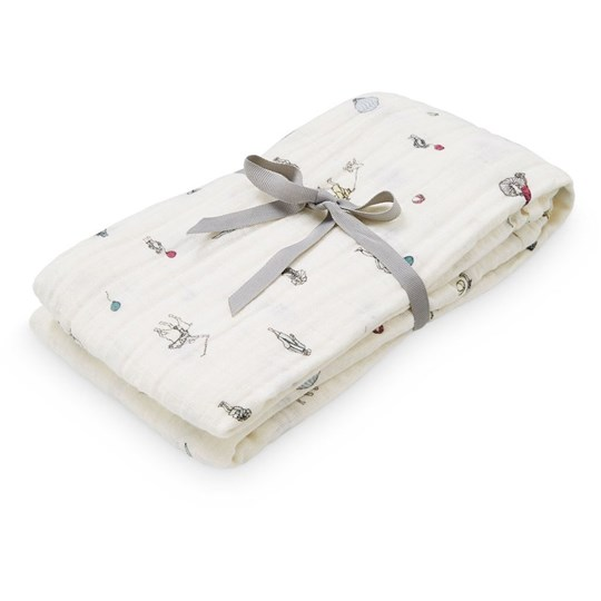 Cam Cam Swaddle Muslin Light Printed  Holiday Cream