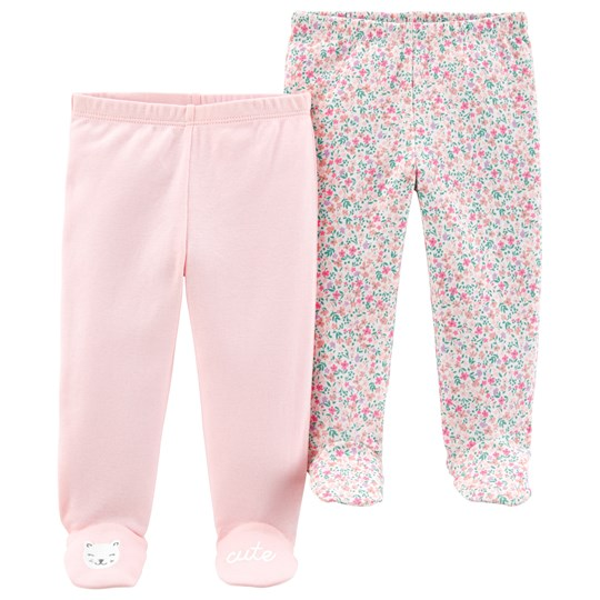 Carter's 2-Pack Footed Pants Pink PINK (650)
