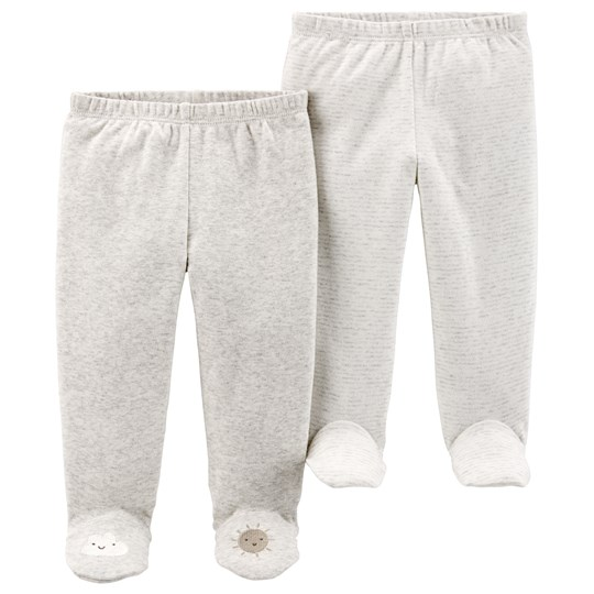 Carter's 2-Pack Footed Pants Heather/Ivory HEATHER (053)