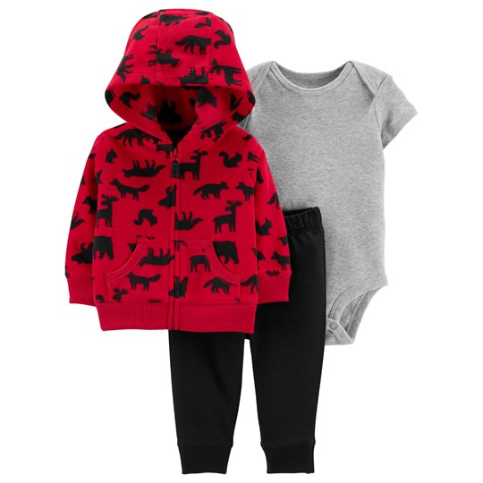 Carter's 3-Piece Woodland Little Jacket Set Red/Black RED (600)