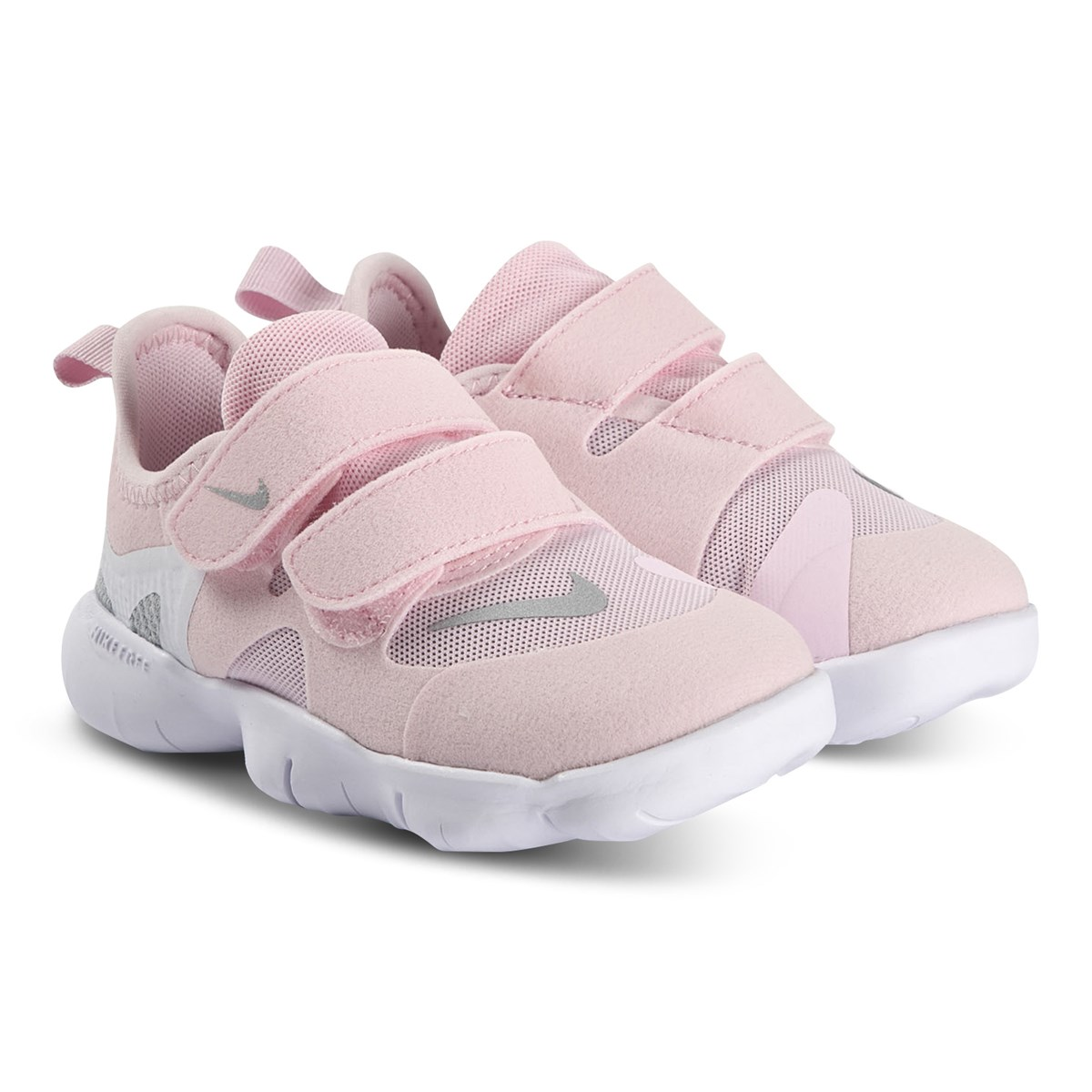Nike Free Rn 5 0 Infant Sneakers Pink Foam And Metallic Silver Babyshop Com