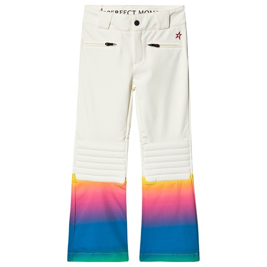 Perfect Moment Contrast Aurora Flare Ski Pants White/Rainbow Rainbow