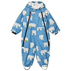 Småfolk Polar Bear Hooded Snowsuit Blue 6-12 months