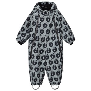 Småfolk Apple Print Fleece Lined Snowsuit Black 6-12 months