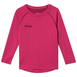 Image of Bergans Akeleie Kids Baselayer Top Raspberry og Beet Red 98 cm (2-3 år) (1446254)