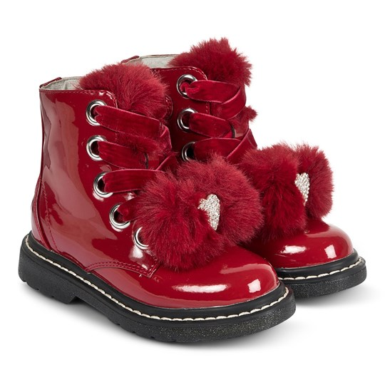 Lelli Kelly Snow Flower Boots Red Paint RED PATENT