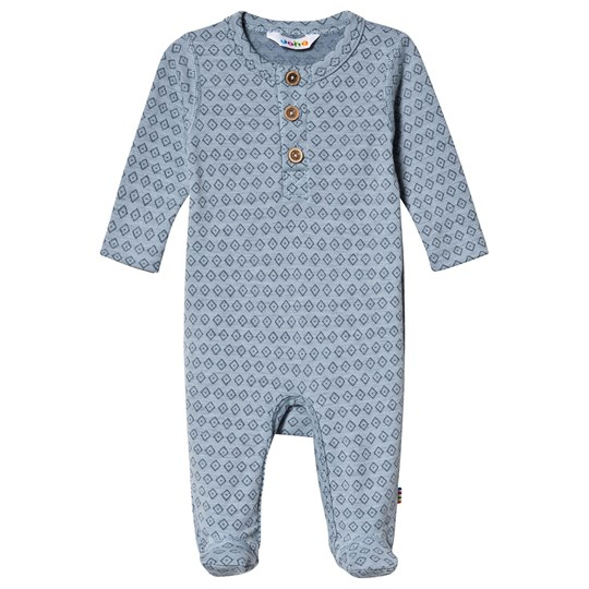 Joha Square Footed Baby Body Blue Square