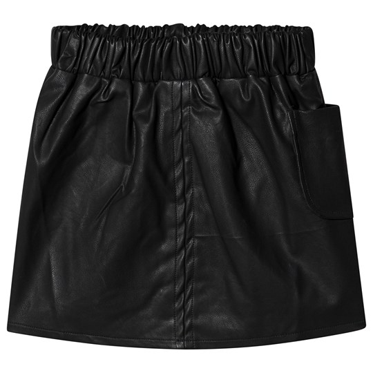 How To Kiss A Frog Nila Faux Leather Skirt Black Black