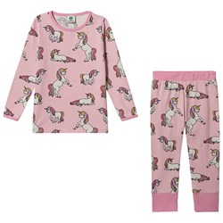 Småfolk Unicorn Pyjamas Coral Blush
