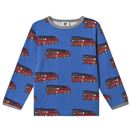 Småfolk Fire Engine Long Sleeve Tee Blue Lolite 715