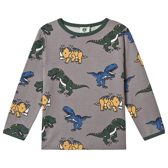 Småfolk Dino Long Sleeve Tee Wild Dove 234