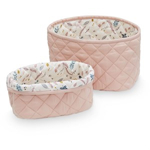 Cam Cam Quilted Storage Basket Set of Two Blossom Pink One Size