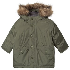Image of GAP Green Parka Coat 4 år (1471205)
