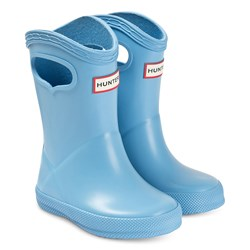 Hunter Kids First Classic Pull-On Rain Boots Amplifying Blue