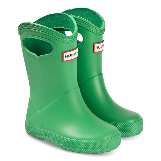 Hunter Kids First Classic Pull-On Rain Boots Element Green ELEMENT