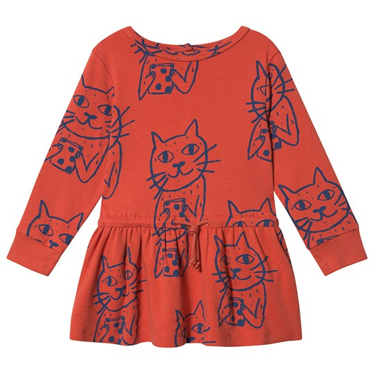 nadadelazos Anton the Cat Dress Stop Red STOP RED 305