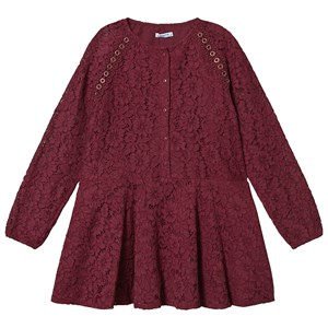 Mayoral Lace Dress Burgundy 14 years
