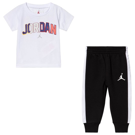 Air Jordan 91 to Infinity T-shirt and Sweatpants Set White/Black 023