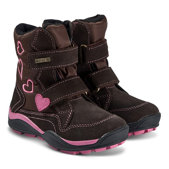 Lelli Kelly Ella Boots Brown and Fuchsia Brown/Fushia